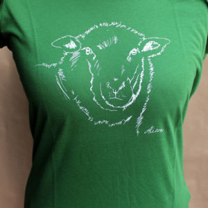 girls sheep leaf green