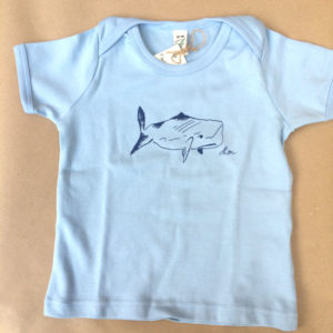 whale babies light blue