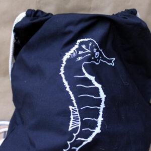 Seahorse Turnbeutel black