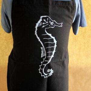 Kids-Schurze-seahorse-black
