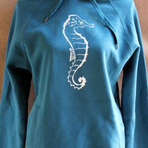 Hoodie Seahorse sea green