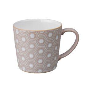 Impression pink hexagon large mug