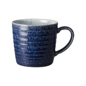 Studio blue cobalt ridged mug