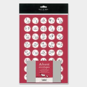 robin advent sticker set